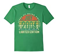 July 2004 Limited Edition 16th Birthday 16 Year Old Gift Shirts Forest Green