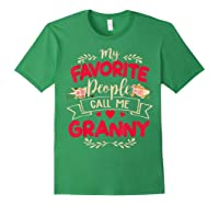 My Favorite People Call Me Granny Mothers Day Gift Shirts Forest Green