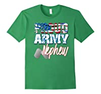 Proud Patriotic Usa Army Nephew Usa Flag Military Shirts Forest Green