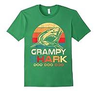 Grampy Shark Doo Doo Doo Fathers Day Gift Shirts Forest Green