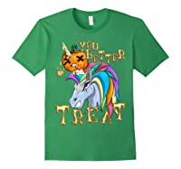 Unicorn Pumpkin Shirts Forest Green