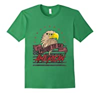 Cool American Flag Eagle Powerful Us Army Patriot Gift T-shirt Forest Green