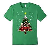 Christmas Tree Leopard Print Buffalo Plaid Merry Xmas Gift Shirts Forest Green