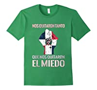 Dominican Republic Flag Fist Dominican Election 2020 Protest T-shirt Forest Green