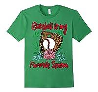 Baseball Is My Favorite Season - Cute Baseball Fan T-shirt Forest Green