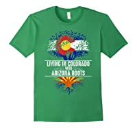 Colorado Home Arizona Roots State Tree Flag Love Gift Shirts Forest Green