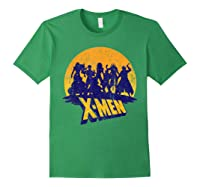 Marvel X- Logo And Mutants Classic T-shirt Forest Green