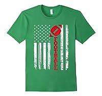 Football Shirt: Usa American Flag Sport Team Fan T-shirt Forest Green
