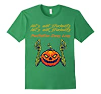 Funny Let's Eat Students Punctuation Saves Lives Tea Shirts Forest Green