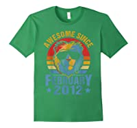 Lion 2012 Awesome February 8th Birthday Gifts King T-shirt Forest Green