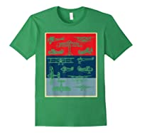 Aneisha Vintage Airplane Gift For Pilot Aviation Students Shirts Forest Green