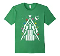 Shotgun Christmas Tree For Duck Hunters Shirts Forest Green