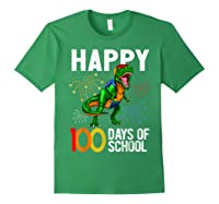 100 Days Of School Dinosaur T Rex Pencil Backpack Gift Shirts Forest Green