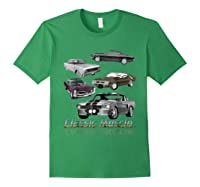 Classic American Muscle Cars Vintage Gift Shirts Forest Green