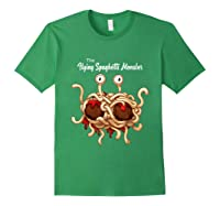 Flying Spaghetti Monster Pastafarian Vintage Shirts Forest Green