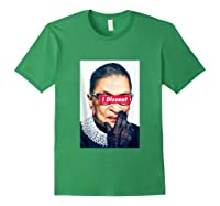 I Dissent - Rbg - Ruth Bader Ginsburg Tank Top Shirts Forest Green