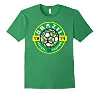 Football Is Everything - Brazil Vintage T-shirt Forest Green