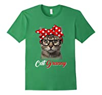 Funny Cat Granny Shirt For Cat Lovers-mothers Day Gift Forest Green
