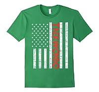 Us Flag Taekwondo Vintage Patriotic Martial Arts Lover Gift T-shirt Forest Green