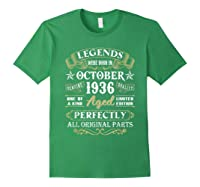 Legends Were Born In October 1936 84th Birthday Gifts T-shirt Forest Green