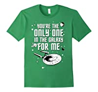 Star Trek Only One For Me Valentine's Day Graphic Shirts Forest Green