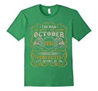 October 1992 Man Myth Legend 28th Birthday 28 Years Old Shirts Forest Green