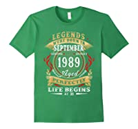 Legends Were Born In September 1989 31st Birthday Gift Shirts Forest Green