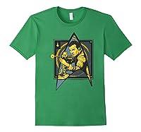 Star Trek Captain James Tiberius Kirk Fan Art Shirts Forest Green