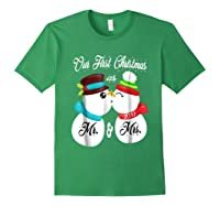 Our First Christmas As Mr And Mrs 2019 Matching Couple Shirt Forest Green