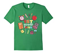 1st Grade Diva Girls First Day Of School Shirts Forest Green