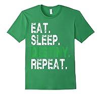 Destiny T-shirt Eat Sleep Destiny Repeat Short Sleeve T-shirt Forest Green
