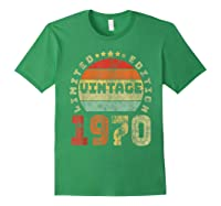 50th Birthday Gifts Retro Vintage 1970 Limited Edition T-shirt Forest Green