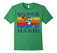 Super Mario Losing Hat Stripes Shirts Forest Green