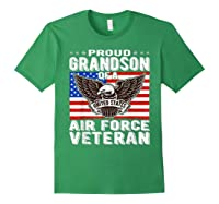 Proud Grandson Of Air Force Veteran Patriotic Military Gifts Shirts Forest Green