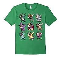 Funny Pug Halloween Pug Pumpkin Dabbing Pug Unicorn Witch Shirts Forest Green