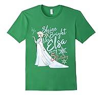 Frozen Elsa Shine Bright On My 5th Birthday Shirts Forest Green