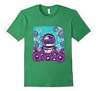 Astronaut Flowers Daisy Bubble Ocean Shirts Forest Green