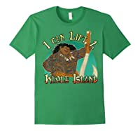 Moana Maui I Can Lift A Whole Island Graphic Shirts Forest Green