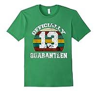 13th A Quarann Retro Birthday Quarantine N Shirts Forest Green