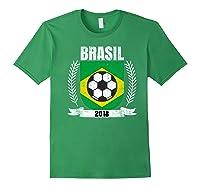 Brazilian 2018 Football Brazil Soccer Fan T-shirt Forest Green