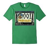Disney Hercules Grecian Marathon Poster T-shirt Forest Green
