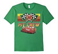 Disney Pixar Cars Mcqueen Pit Crew Red Distressed T-shirt T-shirt Forest Green