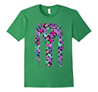 Floral Flower Boricua Taino Cool Gift Plum Puerto Rico Flag Shirts Forest Green