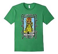 The Queen Of Wands Tarot T-shirt Forest Green
