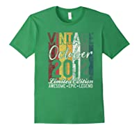 Gift For 8th Birthday October 2012 Vintage Limited Edition Premium T-shirt Forest Green