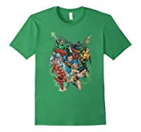 Justice League Refuse To Give Up Shirts Forest Green