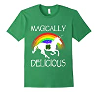 Magically Delicious Unicorn St Patrick's Day Ns Shirts Forest Green
