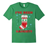Naughty & Nice Matching T-shirts, Ugly Christmas Sweater #1 Forest Green