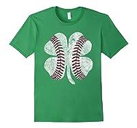 St Patrick\\\'s Day Shamrock Baseball Saint Paddy\\\'s T-shirt Forest Green