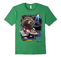 Marvel Avengers Endgame Rocket Logo Graphic T-shirt Forest Green